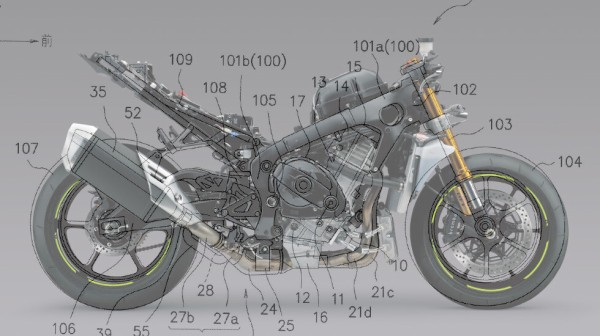 More patent information on Suzuki's 2021 Falcon aka GSX-R1000R